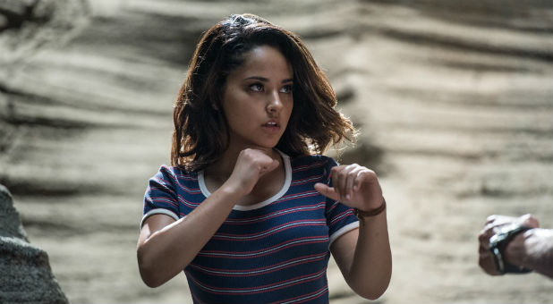 Becky G plays Trini in the new 'Power Rangers' film.