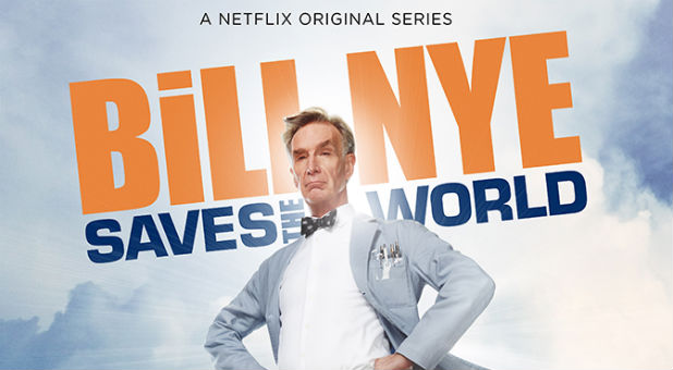 The promotional poster for 'Bill Nye Saves the World.'