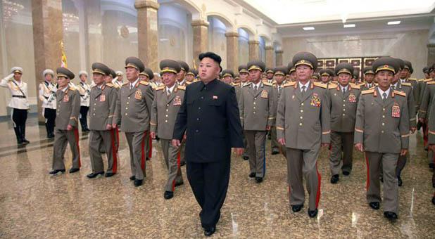 Kim Jong-un and his generals