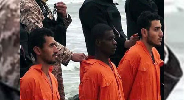All 21 men had been working in Libya when they were kidnapped by ISIS. But as can be seen in pictures where they are lined up on the beach to be killed, one of them had darker skin and different facial features. This was the man from Chad.