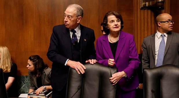 Senate Judiciary Committee Chairman Chuck Grassley, R-Iowa, and Ranking Member Dianne Feinstein, D-Calif.