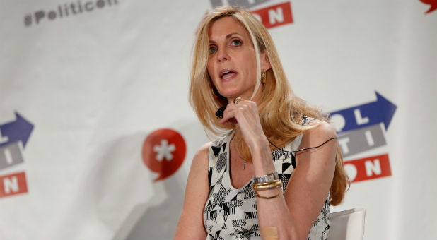 Political commentator Ann Coulter speaks during the